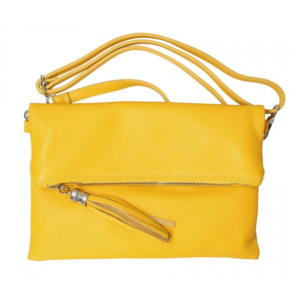 Kožená kabelka 668 žltá Žltá