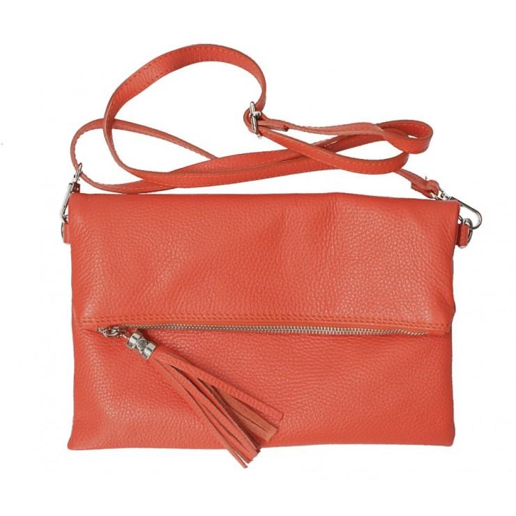 Genuine Leather Handbag 668 coral