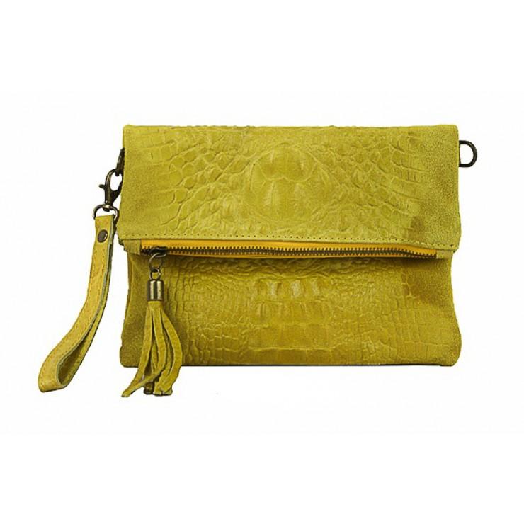 Kožená kabelka krokodíl 630 žltá