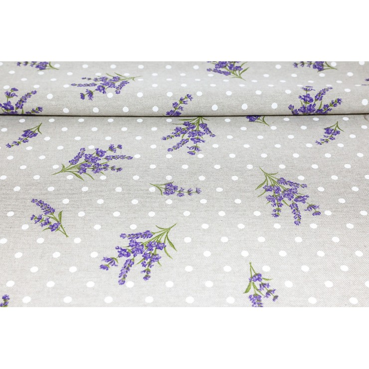 Fabric Lavender with dots