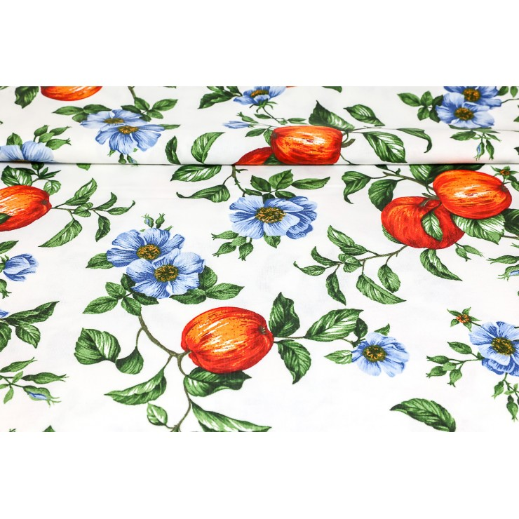 Dekorační látka Bavlna jablka