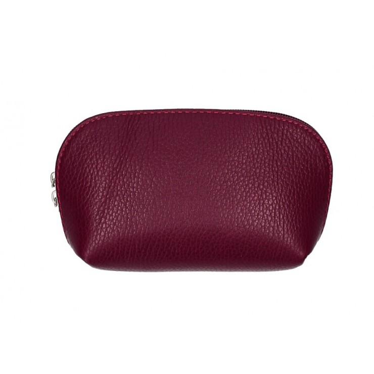Leather Pouch 593 bordeaux