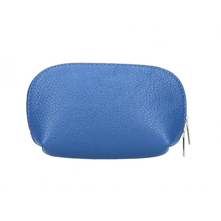 Leather Pouch 593 bluette Made in Italy
