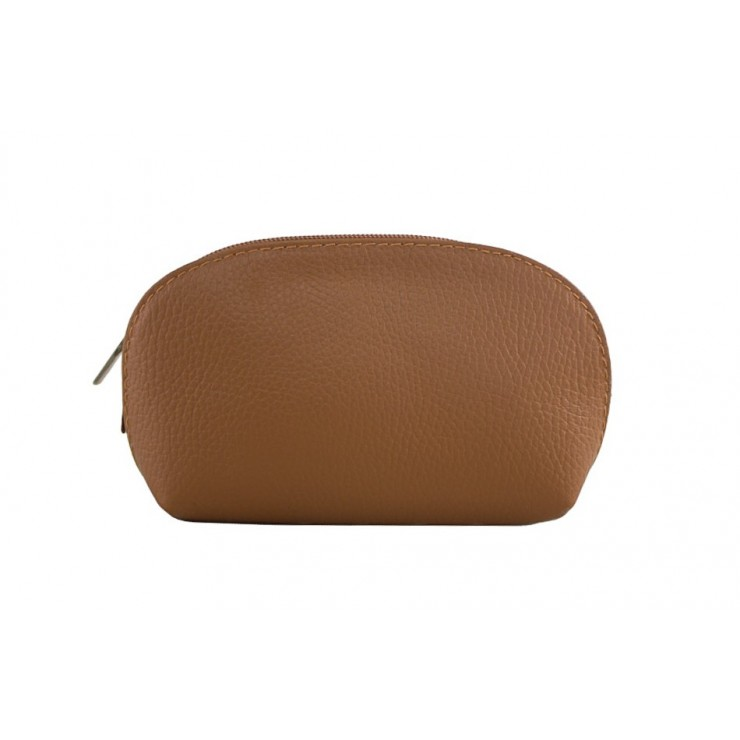 Leather Pouch 593 cognac Made in Italy