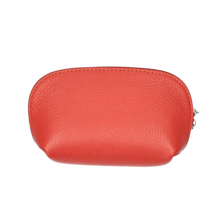 Leather Pouch 593 coral Made in Italy