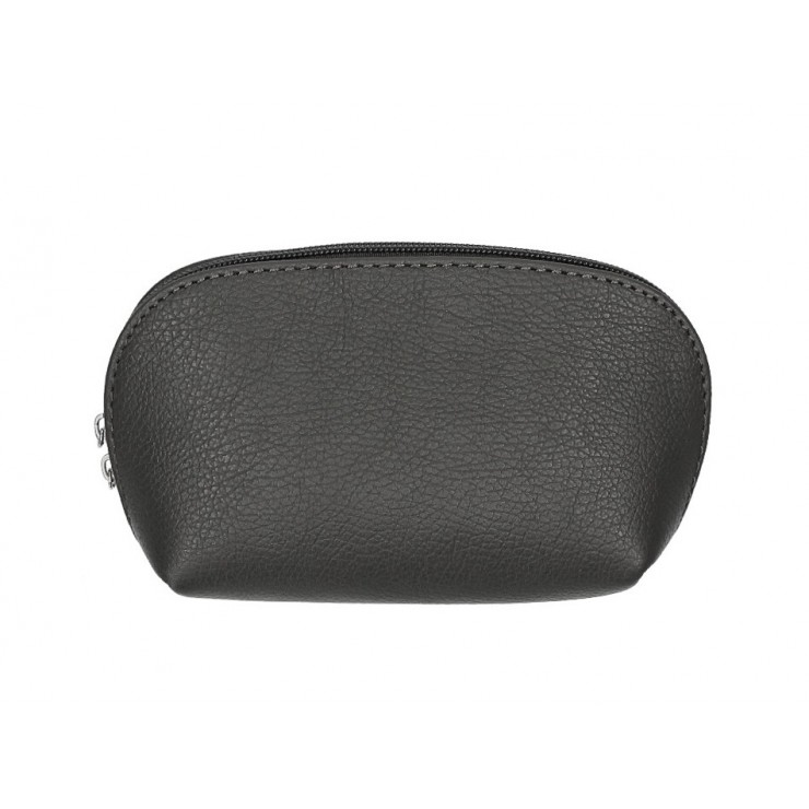 Leather Pouch 593 dark gray Made in Italy