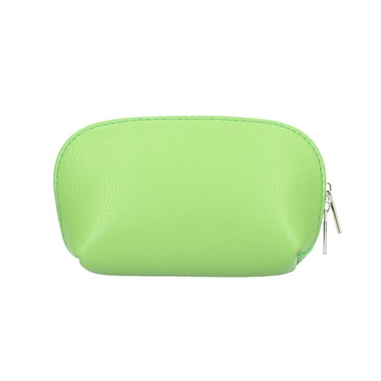 Kožené pouzdro 593 světle zelené Made in Italy