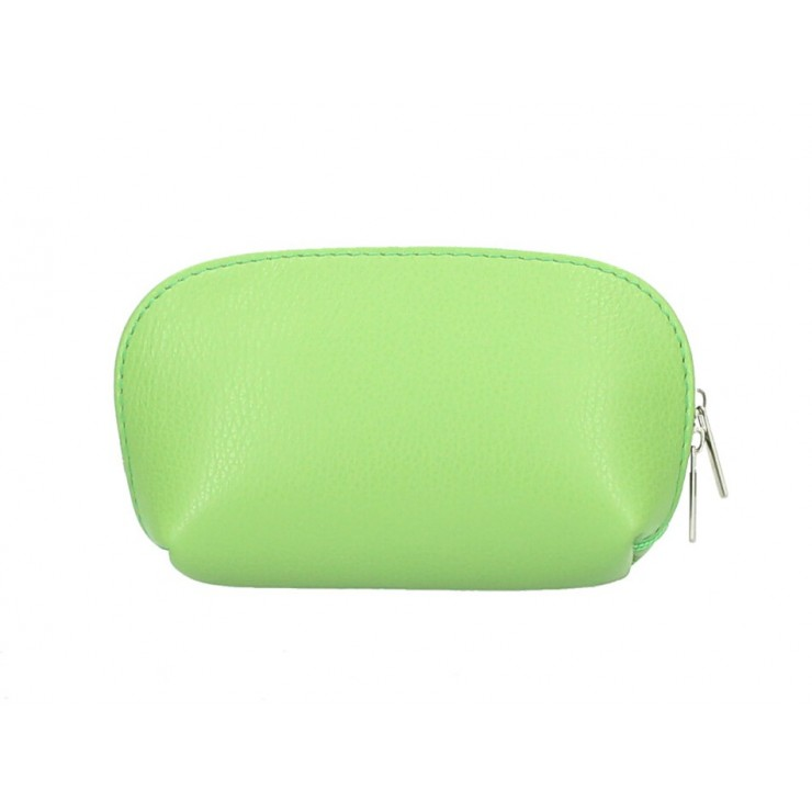 Leather Pouch 593 light green Made in Italy