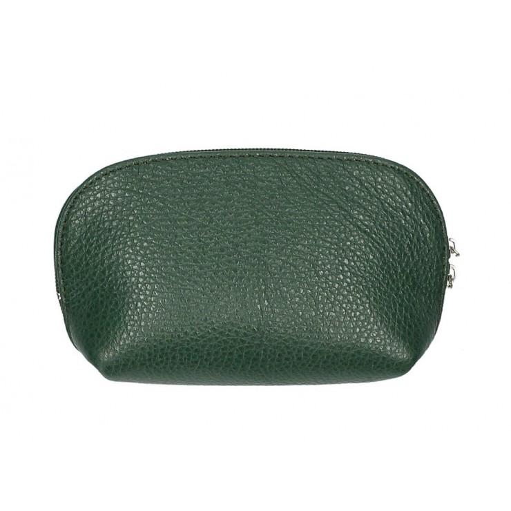 Kožené pouzdro 593 tmavě zelené Made in Italy