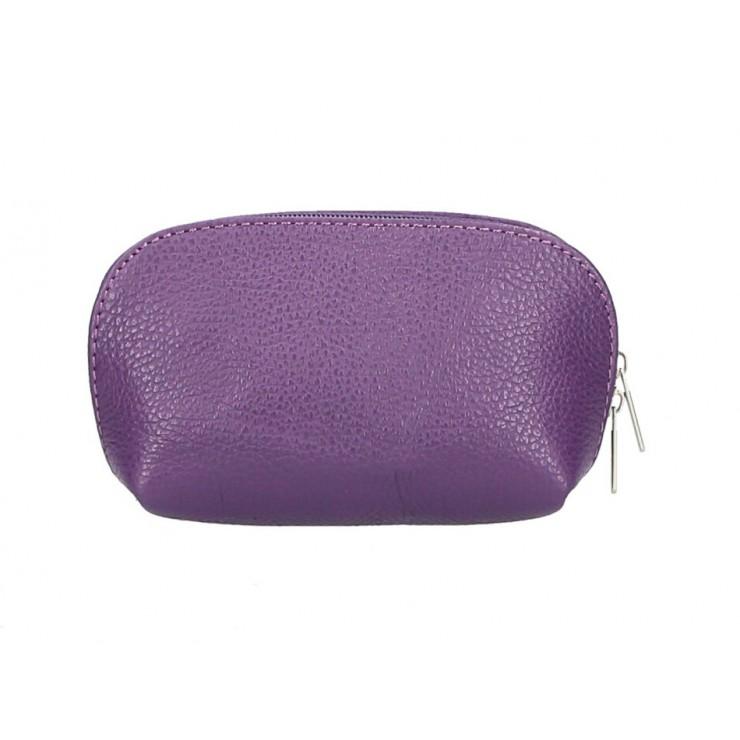 Kožené pouzdro 593 fialové Made in Italy
