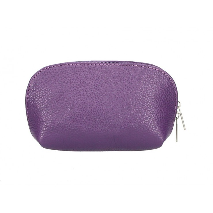 Leather Pouch 593 purple Made in Italy