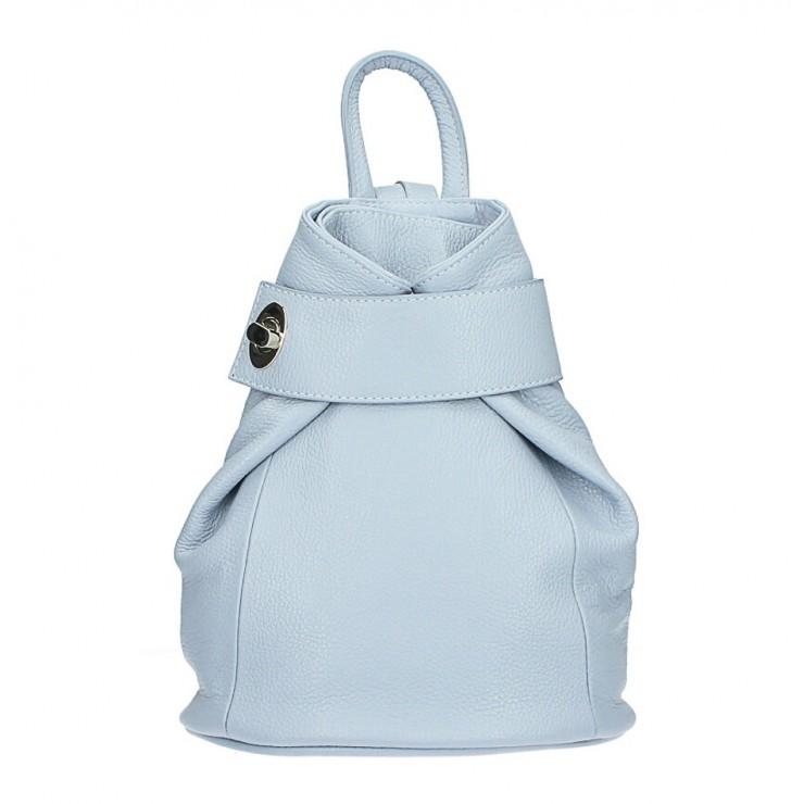 Kožený batoh 443 nebesky modrý Made in Italy