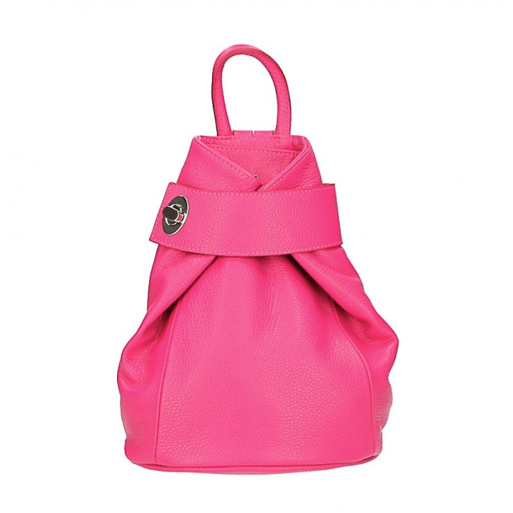 Leather backpack 443 fuxia Made in Italy