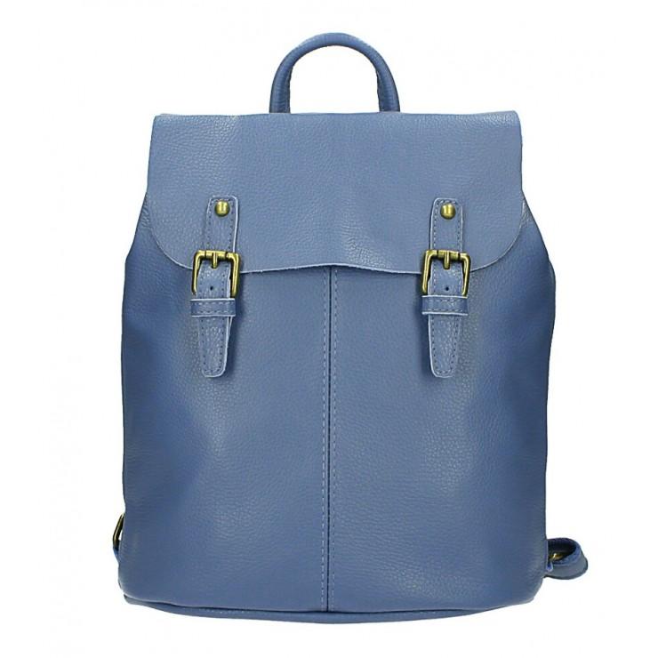 Kožený batoh MI202 blankytne modrý Made in Italy