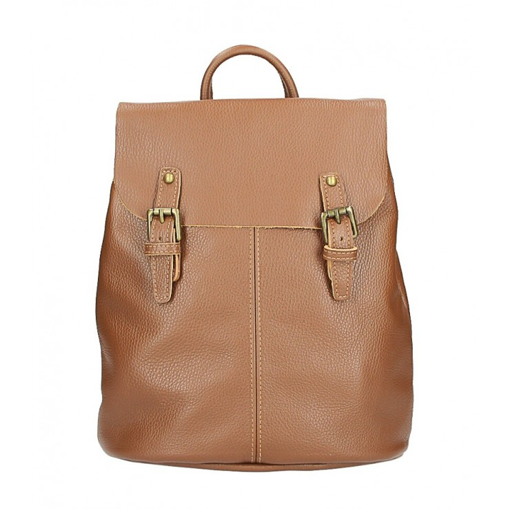 Leather backpack MI202 brown Made in Italy