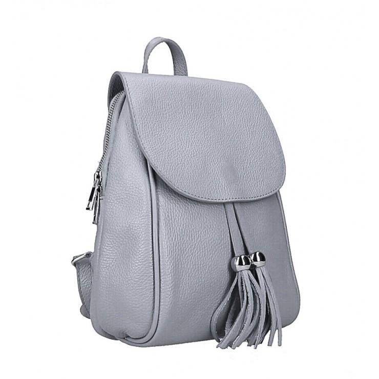 Kožený batoh MI228 šedý Made in Italy