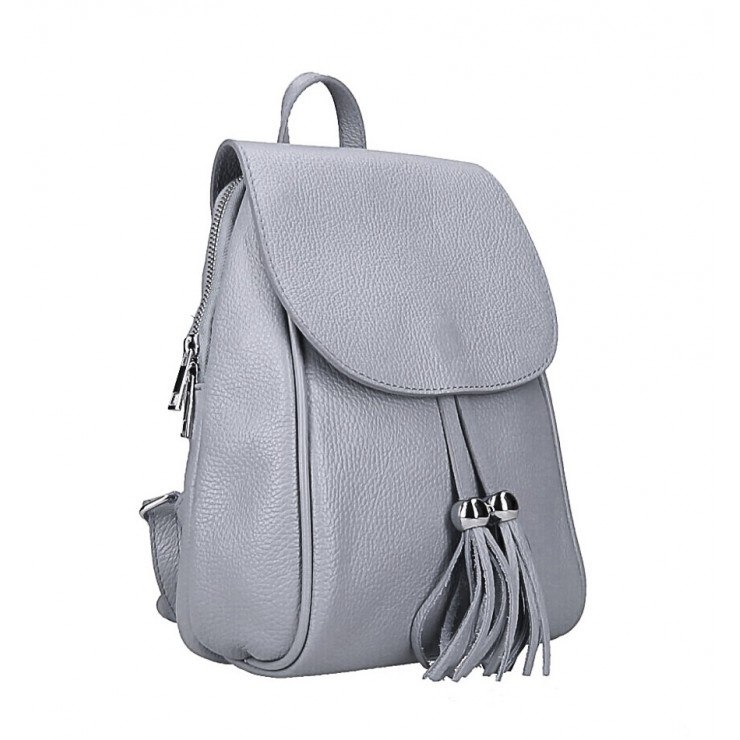 Leather backpack MI228 gray Made in Italy
