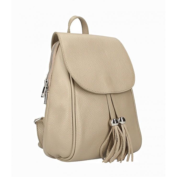 Kožený batoh MI228 šedohnedý Made in Italy