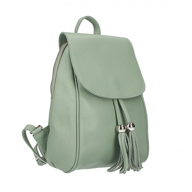Leather backpack MI228 mint Made in Italy