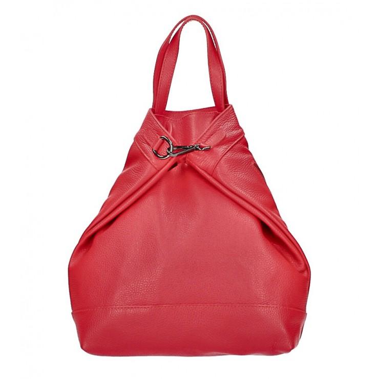 Kožený batoh MI344 rudý Made in Italy