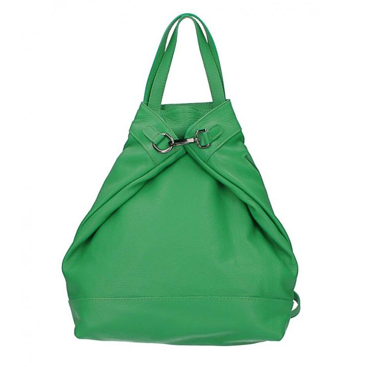 Kožený batoh MI344 zelený Made in Italy