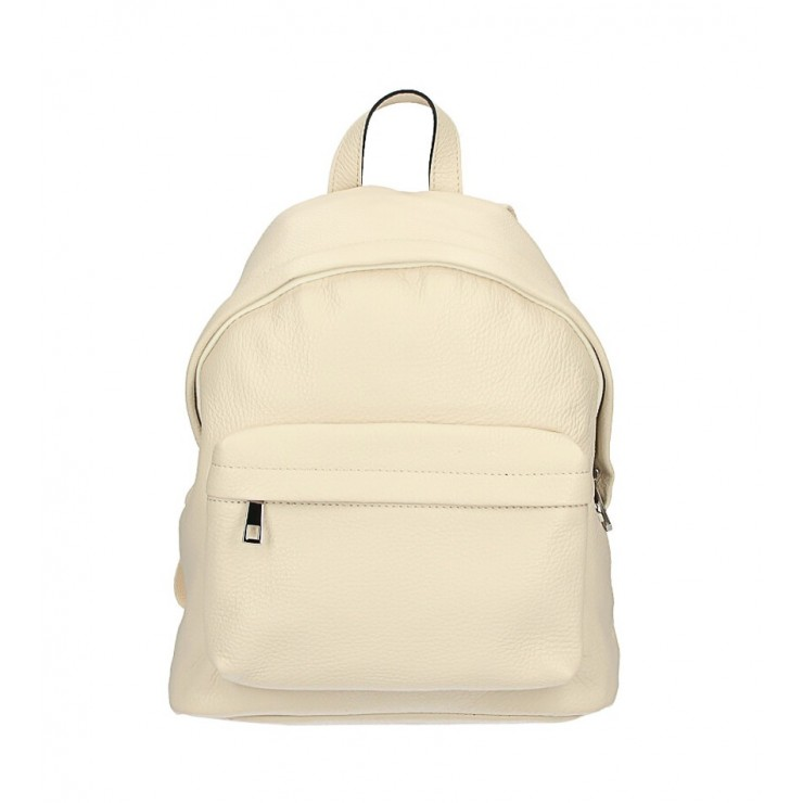 Leather backpack MI360 beige Made in Italy