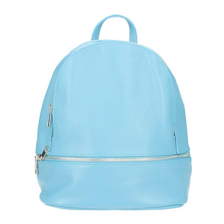 Kožený batoh MI1084 nebesky modrý Made in Italy