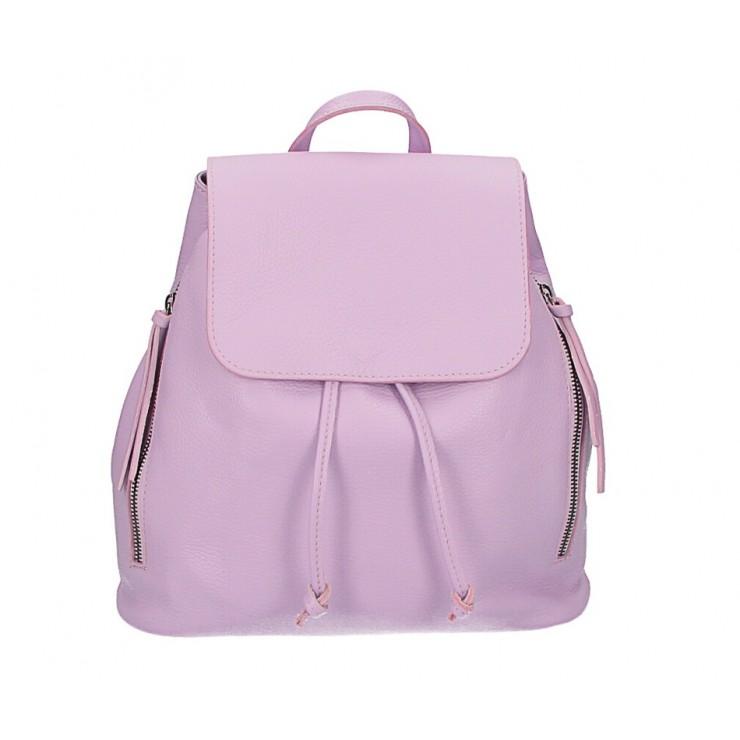 Dámsky kožený batoh 420 fialový Made in italy