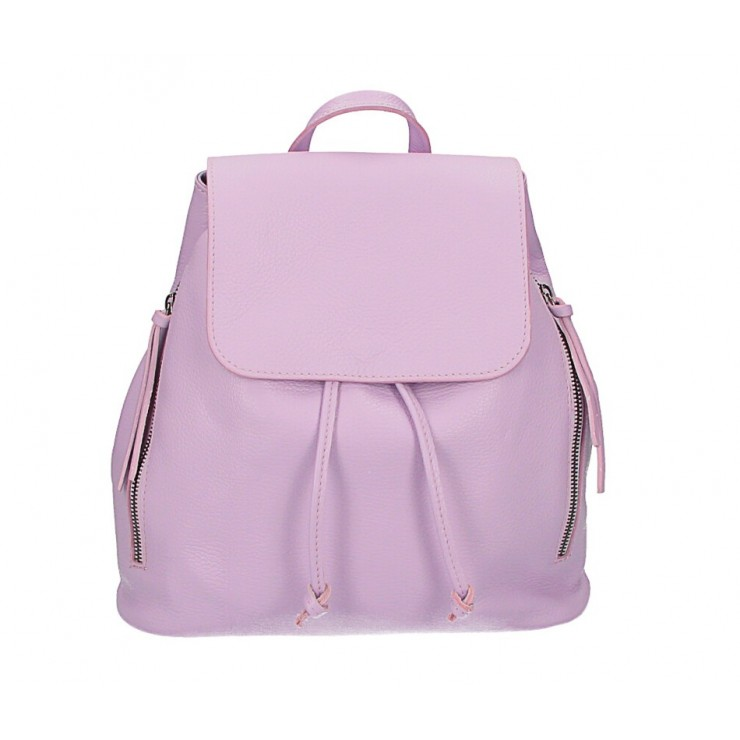 Leather backpack 420 violet Made in Italy