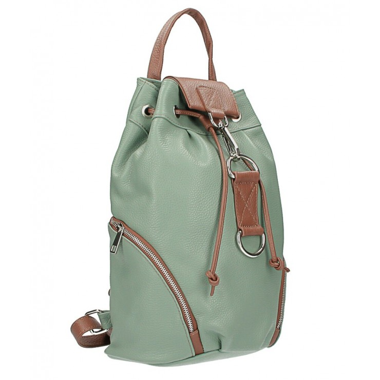 Leather backpack 518 mint Made in Italy