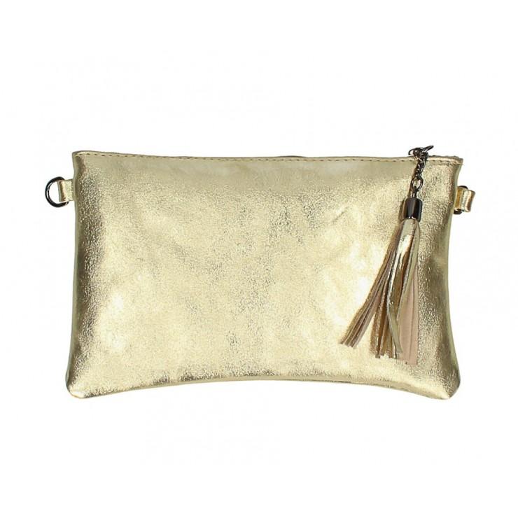 Kožená kabelka 750 zlatá