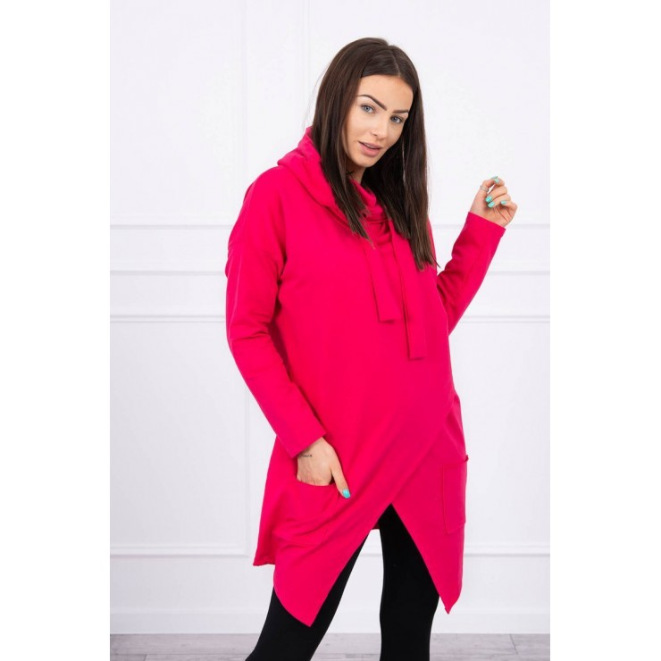 Tunic with envelope front oversize MI0017 fuxia