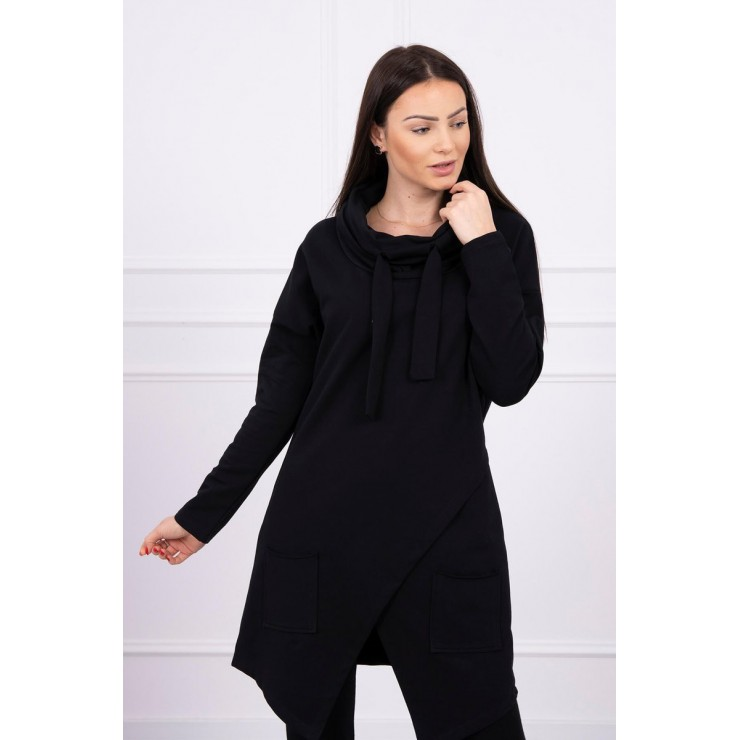 Tunic with envelope front oversize MI0017 black