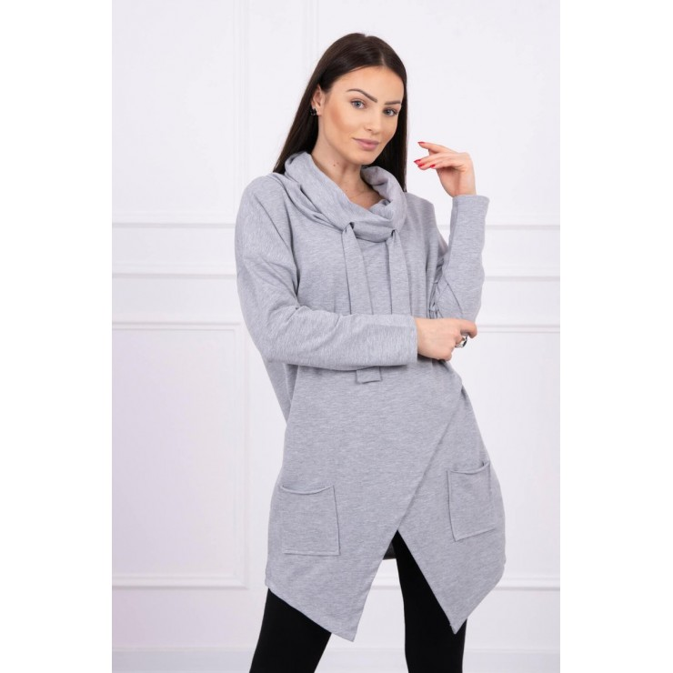 Tunic with envelope front oversize MI0017 gray
