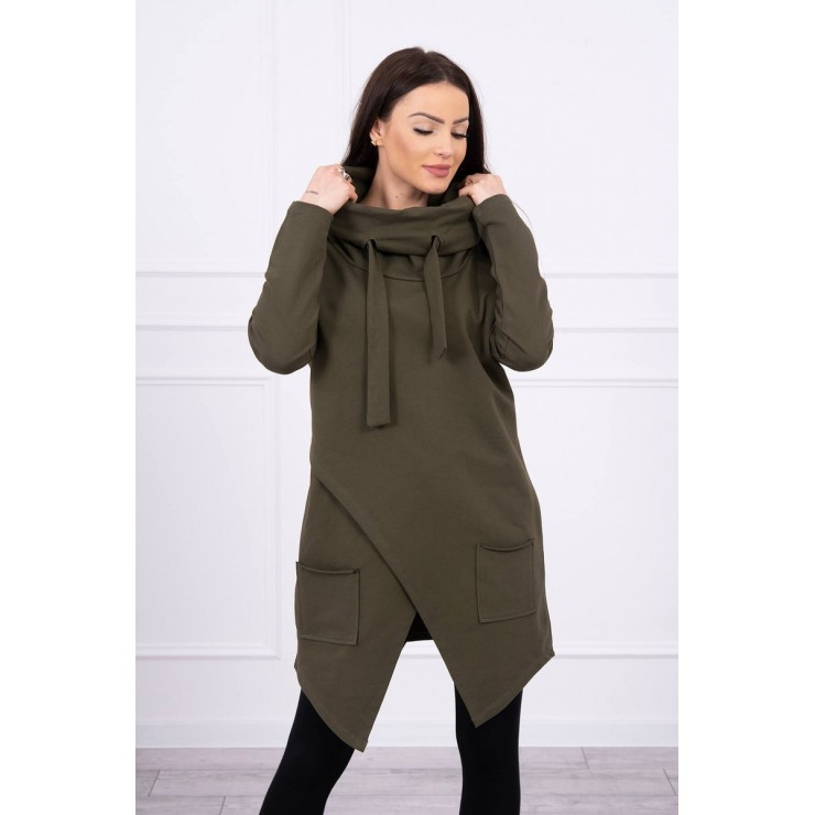 Tunic with envelope front oversize MI0017 dark green