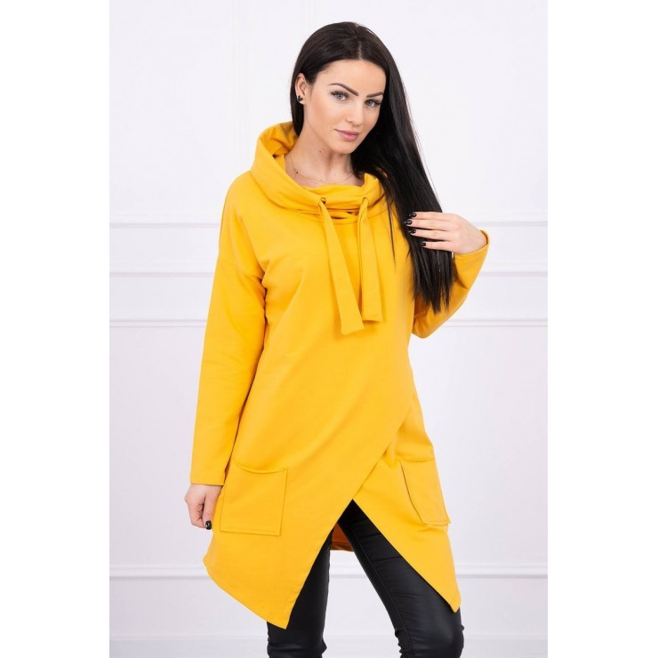 Tunic with envelope front oversize MI0017 mustard