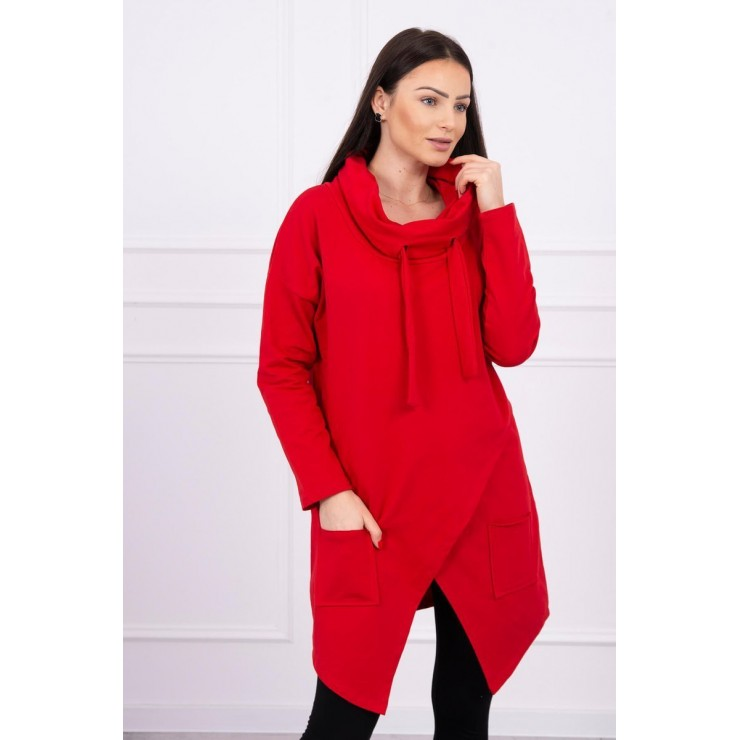 Tunic with envelope front oversize MI0017 red