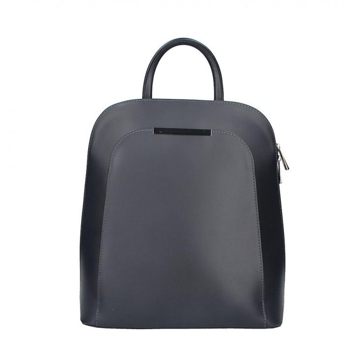 Kožený batoh 1488 tmavěmodrý  Made in Italy