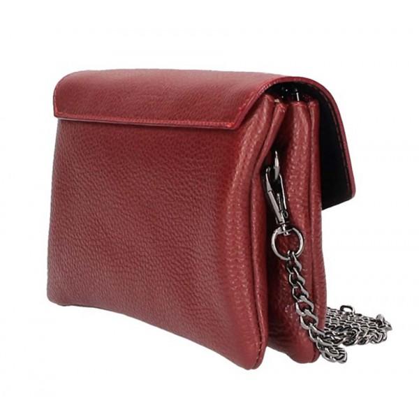 Fialová kožená kabelka na rameno 515 Fialová