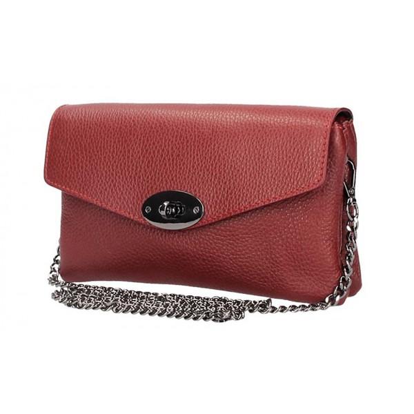 Ružová kožená kabelka na rameno 515 Ružová