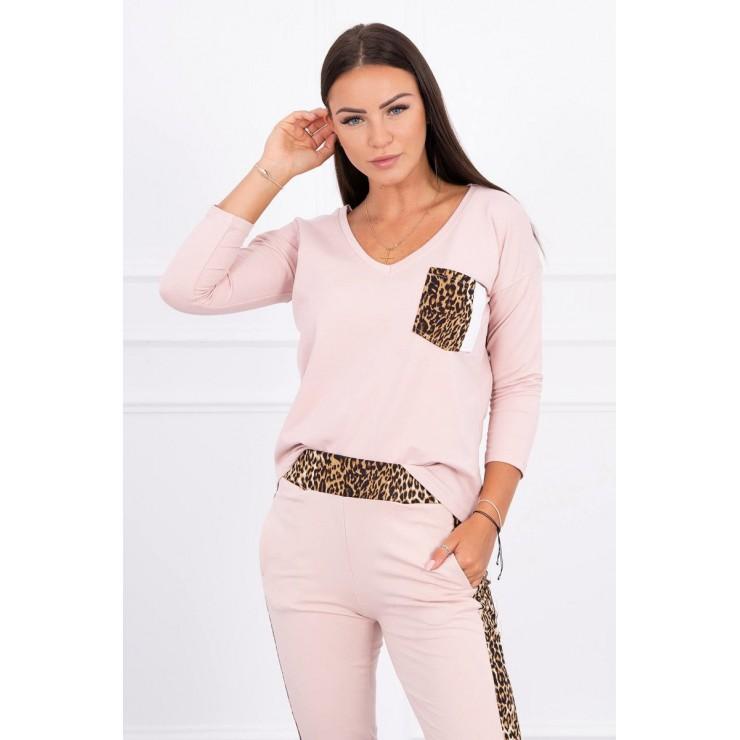 Women's set Panther MI0068 powder pink