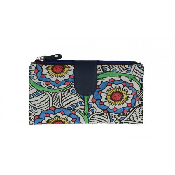 Dámska kožená peňaženka 272 modrá Modrá