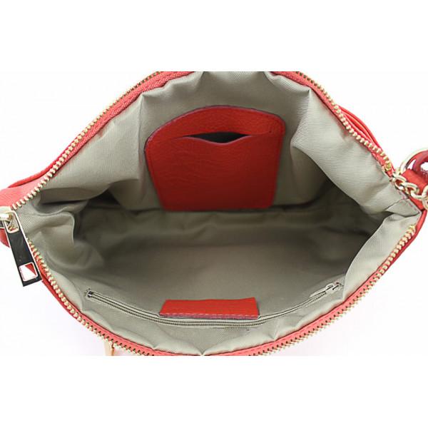 Dámska kožená kabelka 133 koňaková Made in Italy Koňak