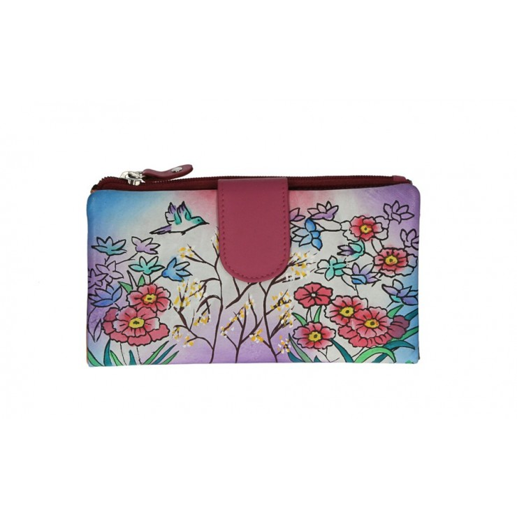 Genuine Leather wallet 272 fuxia