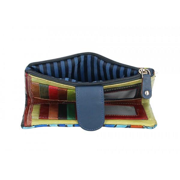 Dámska kožená peňaženka 272 tyrkysová Tyrkysová