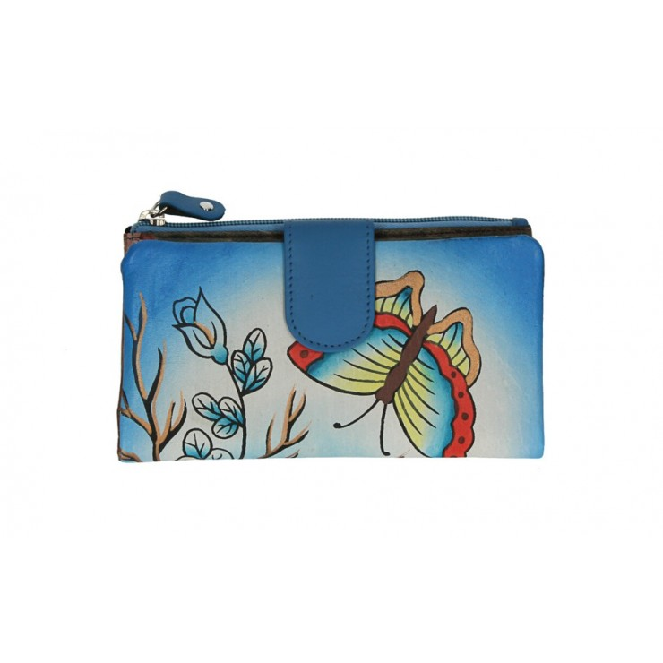 Genuine Leather wallet 272 turquoise