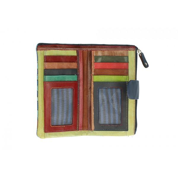 Dámska kožená peňaženka 272 zelená Zelená