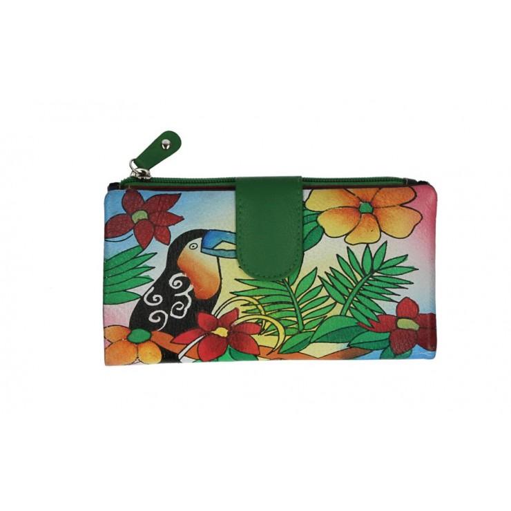 Dámska kožená peňaženka 272 zelená