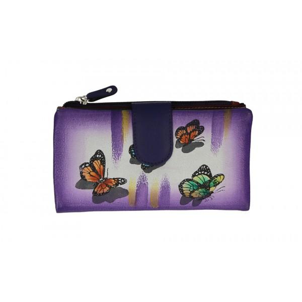 Dámska kožená peňaženka 272 fialová Fialová