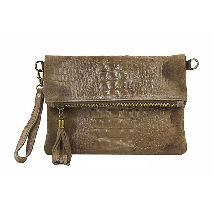 Small Pochette with strap 630 taupe